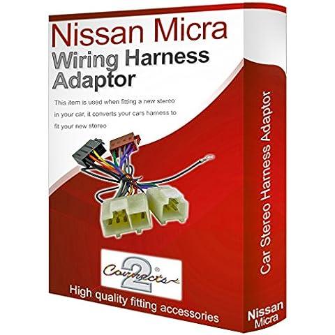 Nissan Micra CD radio stereo loom cablaggio adattatore ISO Convertitore Cavo - Nissan Radio Cablaggio