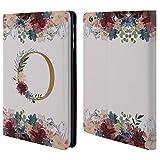 Head Case Designs Offizielle Nature Magick O Blumen Monogramm Blumig Gold 2 Brieftasche Handyhülle aus Leder für iPad Mini 1 / Mini 2 / Mini 3