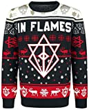 IN FLAMES Holiday Sweater 2018 Knit Sweater Black-White-red