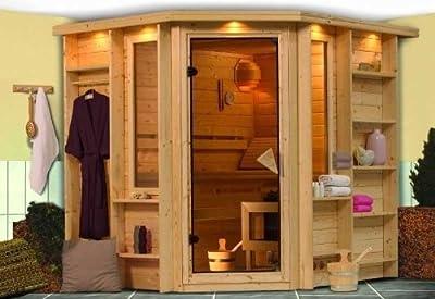 Cortona - Kariub Sauna Premium ohne Ofen von Woodfeeling GmbH bei Du und dein Garten