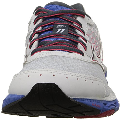 Mizuno Wave Inspire 11 Synthétique Chaussure de Course White-Black-Pink