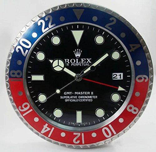 rolex-horloge-murale-legendaire-muette-forte-lumineux-rouge-et-bleu