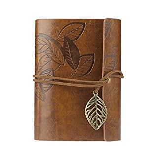 Atdoshop (TM) Virgin Mobile Leaves Vintage Leaves Leather Cover Notebook Journal Diary Gift