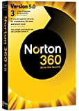 Norton 360 v5.0, 1 User, 3 PCs 1 Year Subscription (PC)