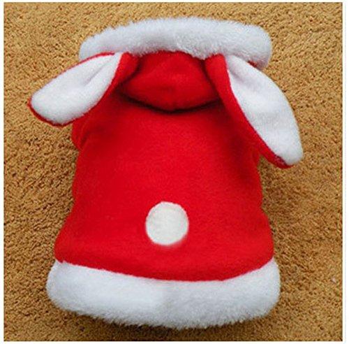 Pet Online Hund Kleidung Halloween Dress Up Cute Bunny Fancy Festival Kostüm, Rot, S