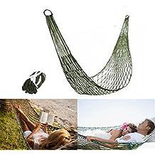PZJ® Camping Hamaca, 200kg Capacidad de Carga, Hamaca militar pequeña de nailon para dormir o relajarse en un camping, en el jardín o en una aventura de supervivencia, Portátil Ultra Ligera para Viaje