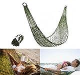 PZJ Hamac de Camping, Portable Hamac ultra léger en nylon multifonctionnel mini de voyage vert armée pour camping ou jardin
