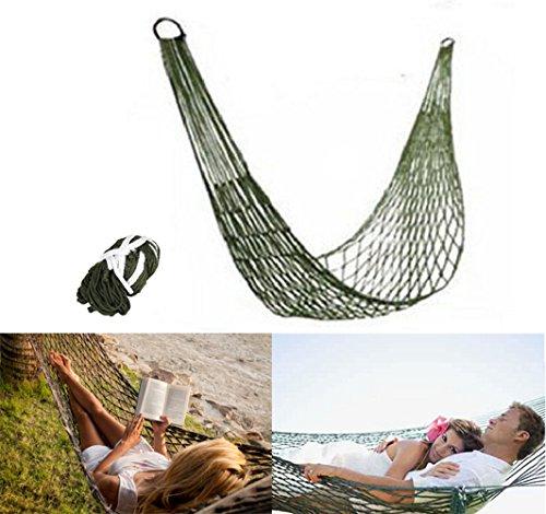 PZJ® Hängematte Mehrpersonen, Hängematte Reisen Camping, Kleine Army Reise hängematte aus Nylon für Camping, zum Entspannen und Schlafen oder für den Garten, Belastbarkeit bis 200 kg