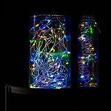 plaights pl-9714Solar 100Micro Kette mit Mini Drops in verschiedenen colours-10Meter LED-Lichterkette für innen und outdoors-constantly Shining, einfach zu shape-safe und zuverlässig für Haus und Garten, Mehrfarbig