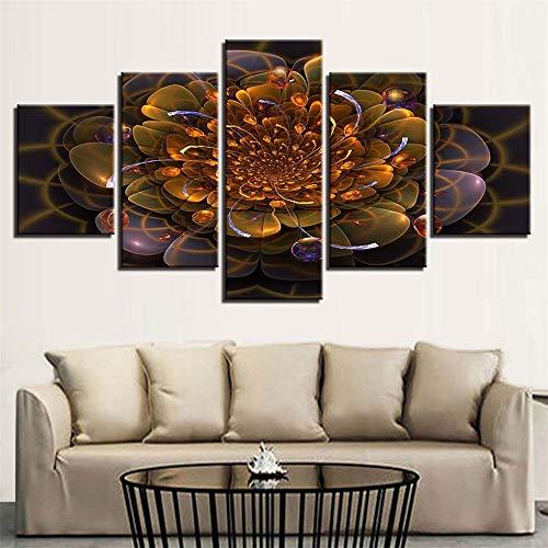 �Raum fünf Kampf abstrakte Blumen Blumen hängen Malerei Tusche Malerei Hause Wandmalereien modernen Stil 1 Malerei Kern 40x60cmx2 40x80cmx2 40x100cmx1 ()