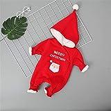 Winter Christmas Plus Velluto Baby Super Soft Baby Onesies Pagliaccetto con Cappuccio (Colore : B, Dimensione : 73)