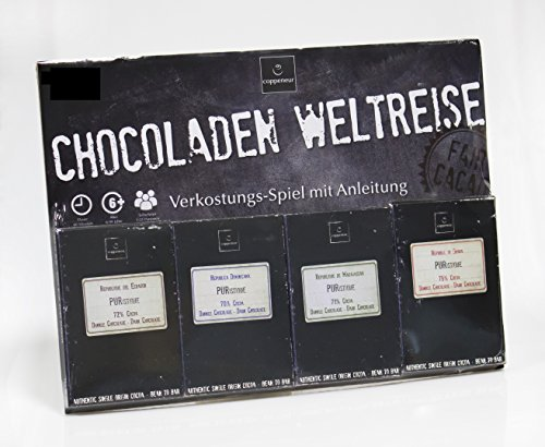 Preisvergleich Produktbild Coppeneur Schokolade Cru de Cao Chocoladen Weltreise. 4 bean to bar herkunftsreine Manufaktur Gran Cru Schokolade 200 g