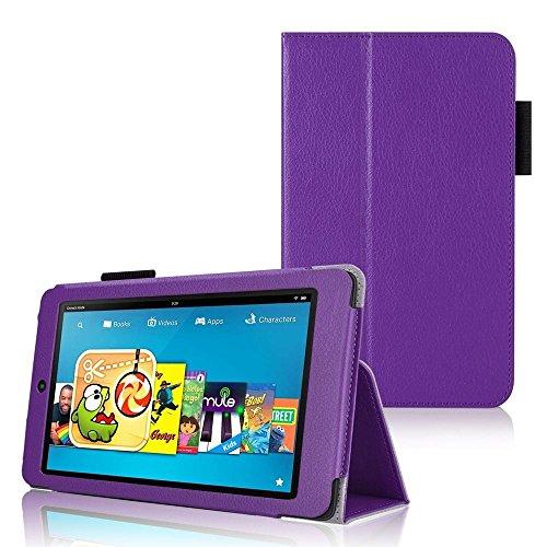 """Invero® Exécutif Étui en cuir comprend LCD Film de Protection et Touch Screen Stylet Stylo pour Amazon Kindle Fire HD 6, écran HD 6"""" 2014 (Violet / Purple)"""