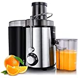 HOMETRONICS Juicer Machines Centrifugal Juice Extractor for Whole Fruit and Vegetables, BPA-Free, Dual Speed and…