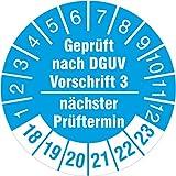 500 Stück nächster Prüftermin - geprüft nach DGUV Vorschrift 3 Prüfetiketten / Prüfplaketten 30 mm rund 2018-23