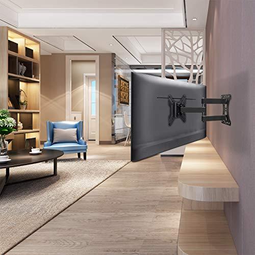 Mounting Dream TV Wandhalterung Schwenkbar Neigbar Ausziehbar, Fernseher Halterung für die meisten 43cm-100cm (17-39 Zoll) LED, LCD und OLED TVs mit VESA 100x100-200x200mm bis zu 27kg, MD2431-S-03