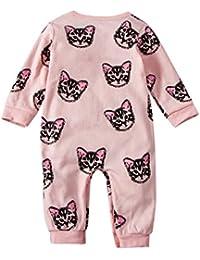 ESHOO bebé niños niñas Cute Animal Print algodón Jersey Playsuit trajes