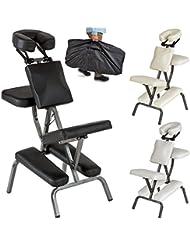 TecTake Silla de masaje fisioterapia rehabilitacion sillón de tratamiento tattoo - disponible en diferentes colores - (Negro   No. 401183)