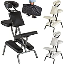 TecTake Silla de masaje fisioterapia rehabilitacion sillón de tratamiento tattoo - disponible en diferentes colores - (Negro | No. 401183)
