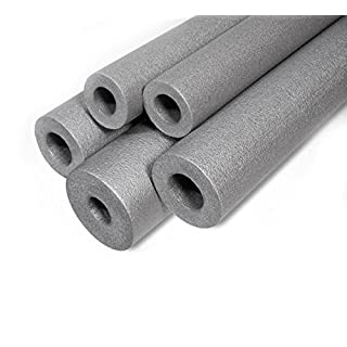 Grey Pipe Insulation Foam 48mm / 20mm Length - 1 meter Strong Round Tube Lagging Thermal Acoustic Water Pipe Wrap ST48/20