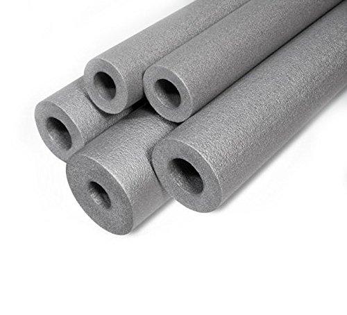 Grau Rohrisolierung Schaumstoff 48mm/20mm Länge-1Meter Starke rund Tube zurückbleiben Thermo Akustik Wasser Rohr Wrap ST48/20