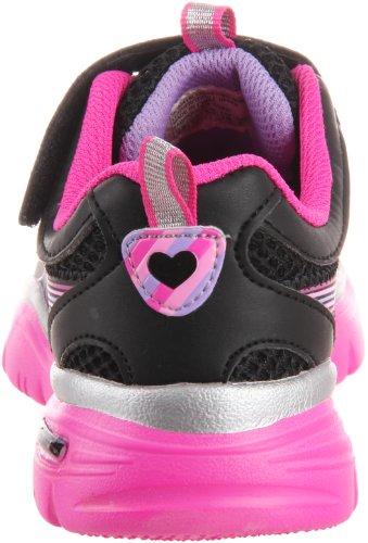 Skechers Lite Sprints-Lovelite, Baskets mode filles Noir (Bknp)