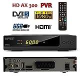 Opticum HD AX300 PVR (Aufnahmefunktion) - Digitaler FTA SAT Receiver mit HDTV Empfang 12/230 Volt