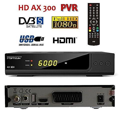 Opticum HD AX300 PVR (Aufnahmefunktion) - Digitaler FTA SAT Receiver