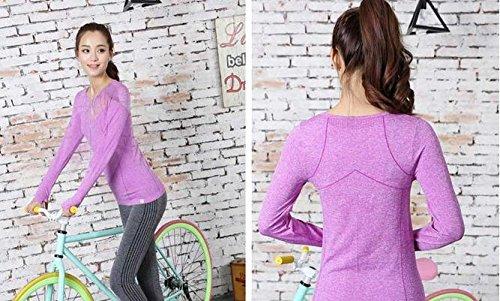 Costume de sport Yoga vêtements chemise femmes Purple