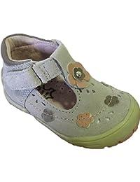 Sandales taupes en cuir pour bébés filles