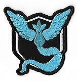 Pokemon Go Team Mystic Patch (7,6cm) Aufbügeln oder nähen auf Badge Aufnäher Souvenir DIY Kostüm Team Instinct Mystic Valor