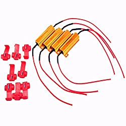 Lastwiderstand Widerstand,4 Stück 50W 6 Ohm Widerstand für LED SMD Blinker Fehlercode Fix