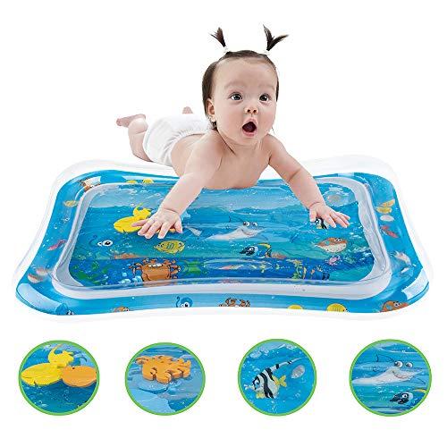 Baby Premium Wassermatte,mit beweglichen Schwimmelementen Spielzeug Aufblasbare,Aktivitätscenter Bauchzeit Für Kinder, Baby, Kleinkinder, Spielmatte Baby Spielzeug für Das Wachstum von Kindern
