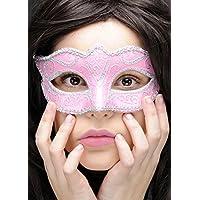 Masque bal masqué Vérone rose et argent