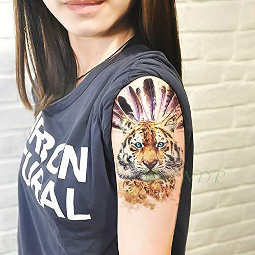 Ljmljm 4pcs impermeabile tattoo sticker ali lettera inglese tatto tatoo gamba posteriore del braccio del ventre di grande formato per le donne gli uomini girla rosa 21x15cm