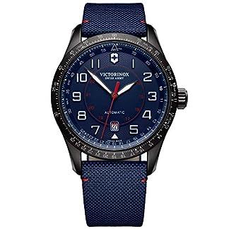 Victorinox Hombre Airboss Mechanical Reloj automático de fabricación Suiza – Negro/Azul Marino 241820