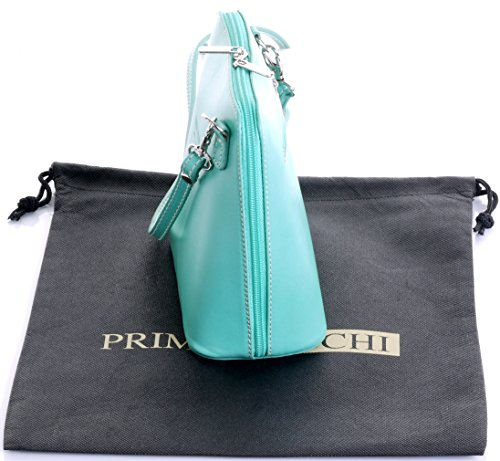 Italian Leather Hand Made Mint GreenSmall/Micro Cross Body Bag or Shoulder Bag Handbag. Includes Branded a Protective Storage Bag.