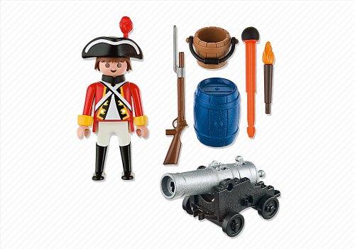 Imagen 2 de Playmobil - Piratas Soldado Con Cañón (5141)