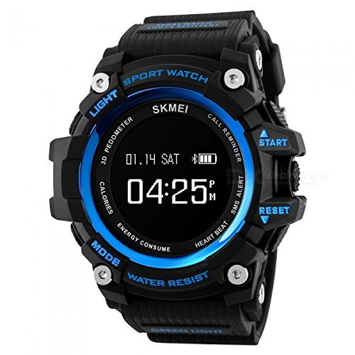 SKMEI 1188 GS10333 Bluetooth Digital Smart Watch With Health Fitness and Sport Activity Tracker for All Mobiles, Blue