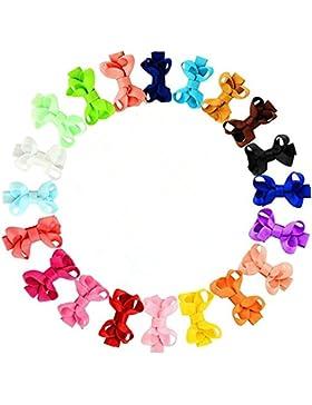 Infantiles de los bebés arcos de pelo broches de horquilla de los Barrettes conjunto de 20 colores