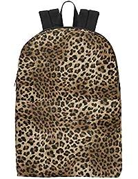 05e4c2998d VunKo Animal Leopard Print Backpack College School Book Bag Travel Hiking  Camping Daypack