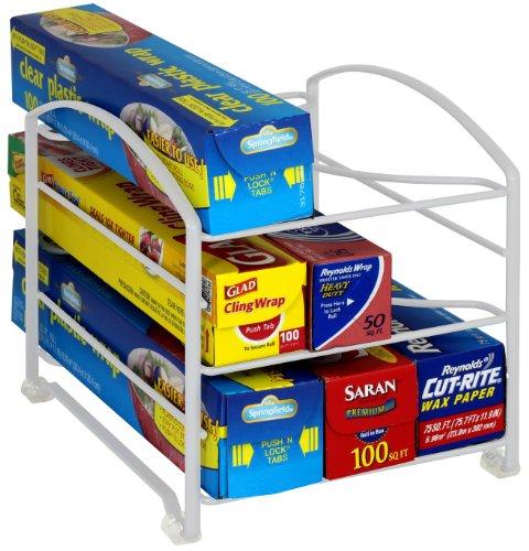 Deco Brothers DecoBros Kitchen Wrap Organizer Rack, White