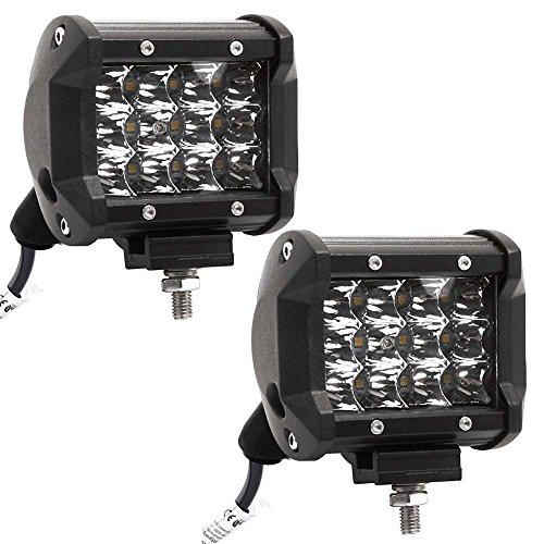 Preisvergleich Produktbild LARS360® 36W LED Auto Arbeitslicht Scheinwerfer Spot Flood Combo Schwarz Wasserdicht für Offroad SUV ATV UTV Arbeitslampe Traktor Bagger LKW KFZ ( 2x36W Cree)