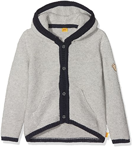 Steiff Baby-Jungen 1/1 Arm Strickjacke, Grau (Snow Grey Melange|Gray 8359), 80