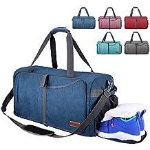 45dde962f2072 CANWAY Faltbare Reisetasche faltbar leichte Sporttasche mit Abnehmbarem  Schulterriemen und Schuhfach Reisegepäck für Reisen Sport Gym