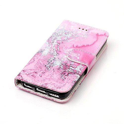 """Coque iPhone 5c, SsHhUu Etui Portefeuille en Cuir PU Véritable Coque Protection à Fermeture Magnétique Stand Porte Cartes avec Stylet + Lanyard pour Apple iPhone 5c (4.0"""") Or Rose Mer Rose"""