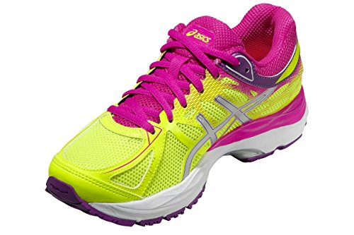 Asics Gel Cumulus 17 GS Flash Yellow Silver Electric Blue 0736 FLASH YELLOW/GRAPE/PINK G