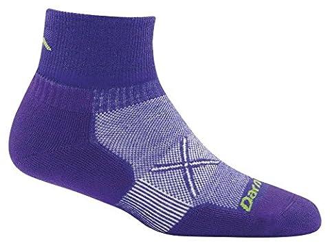 Darn Tough Coolmax Vertex 1/4 Ultralight Sock - Women's Deep Purple Medium