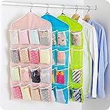 SKUDGEAR 3 Pack 16 Pocket Wardrobe Hanging Closet Organizer for Jewelry, Inner Wear, Socks, Accessories (Pack of 3)