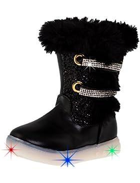Mädchen Glitzer Blink Leucht Stiefel mit Blinklicht in 3 Farben